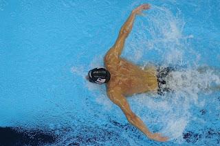 NATACIÓN-Primer oro para el gran Phelps