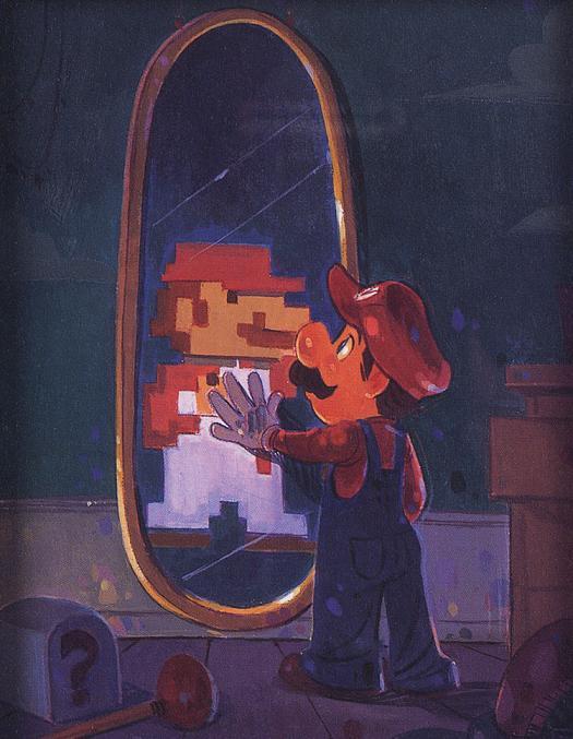 mario espelho 8 bits
