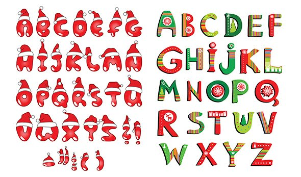 alfabeto navidad