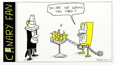 Canary Fan Cartoon
