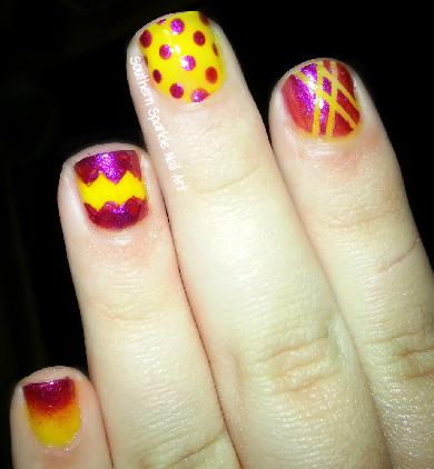 Southern Sparkle Nail Art