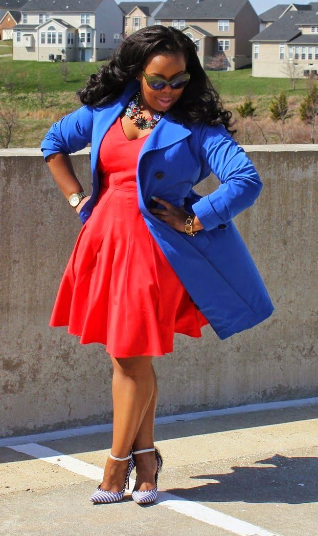 Moda plus size - moda tamanhos grandes trench coat e vestido