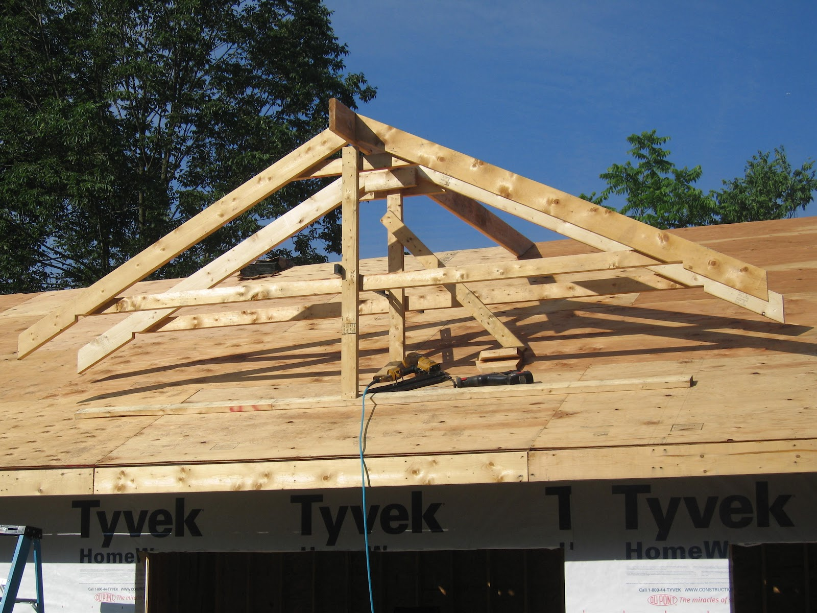 Nate 39 s notes dormer for Pre made roof trusses
