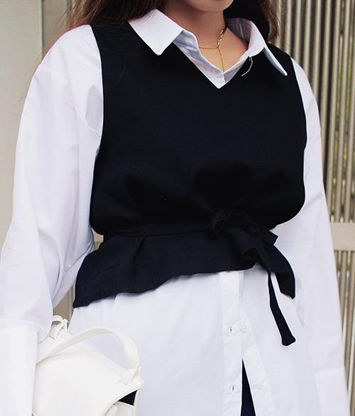 Self-Tie Belt Vest