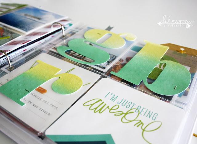 @kimjeffress @heidiswapp #heidiswapp #hsprojectlife #hsstickers #minialbum