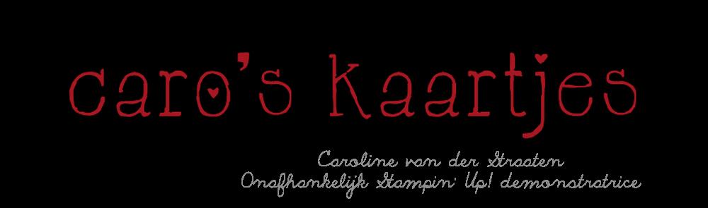 Caro's Kaartjes - voor Stampin' Up! inspiratie en het bestellen van Stampin' Up! producten