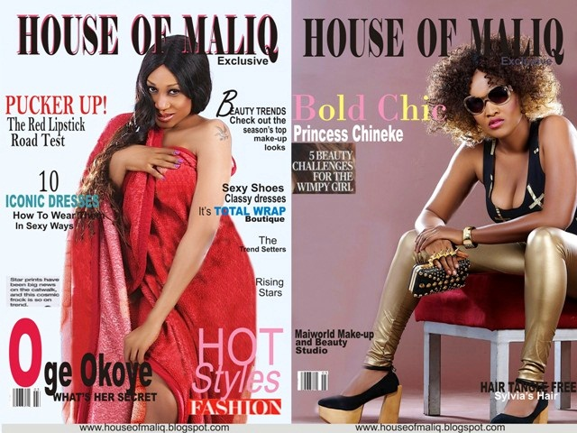 Oge Okoye and Princess Chineke For HOUSE OF MALIQ EXCLUSIVE