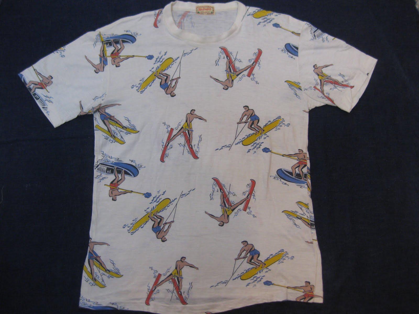 40's Mc Gregor                 総柄 PRINTED Tee shirts