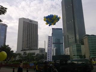 balon pelepasan gas