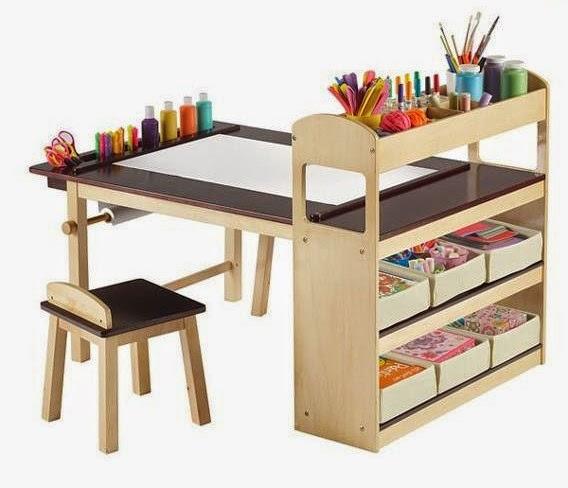 gambar meja belajar anak perempuan