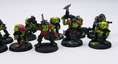 Close up of the Ork Boyz