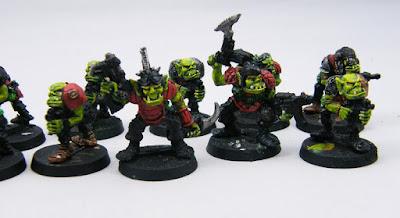 Close up of the Ork Boyz