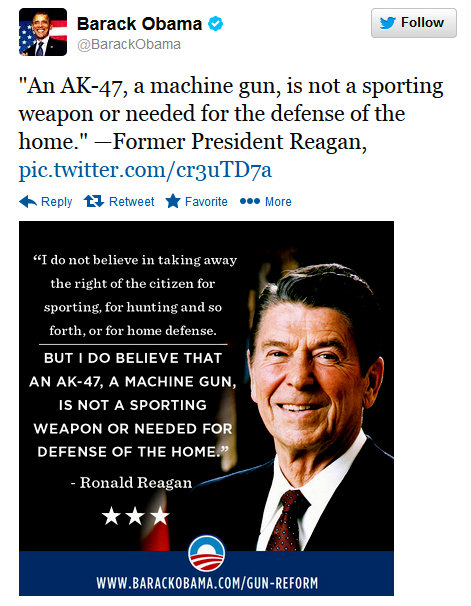 Quotes On Gun Control Impressive The Randy Report President Obama Quotes Reagan Regarding Gun Safety