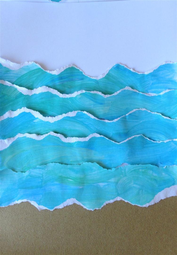 Как сделать море из бумаги
