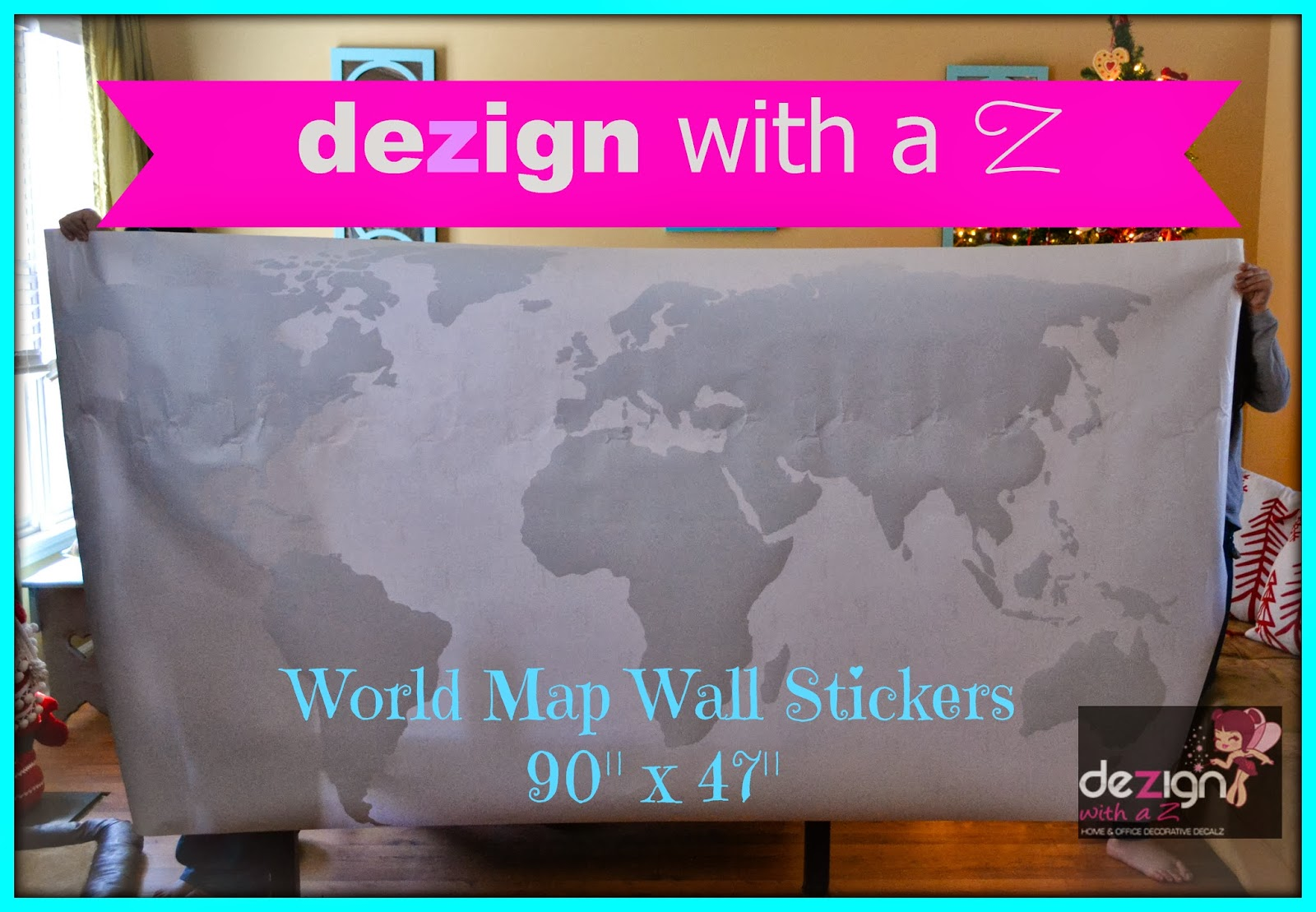 Wall Decals Dezign With A Z : Review dezign with a z world map wall sticker pack the