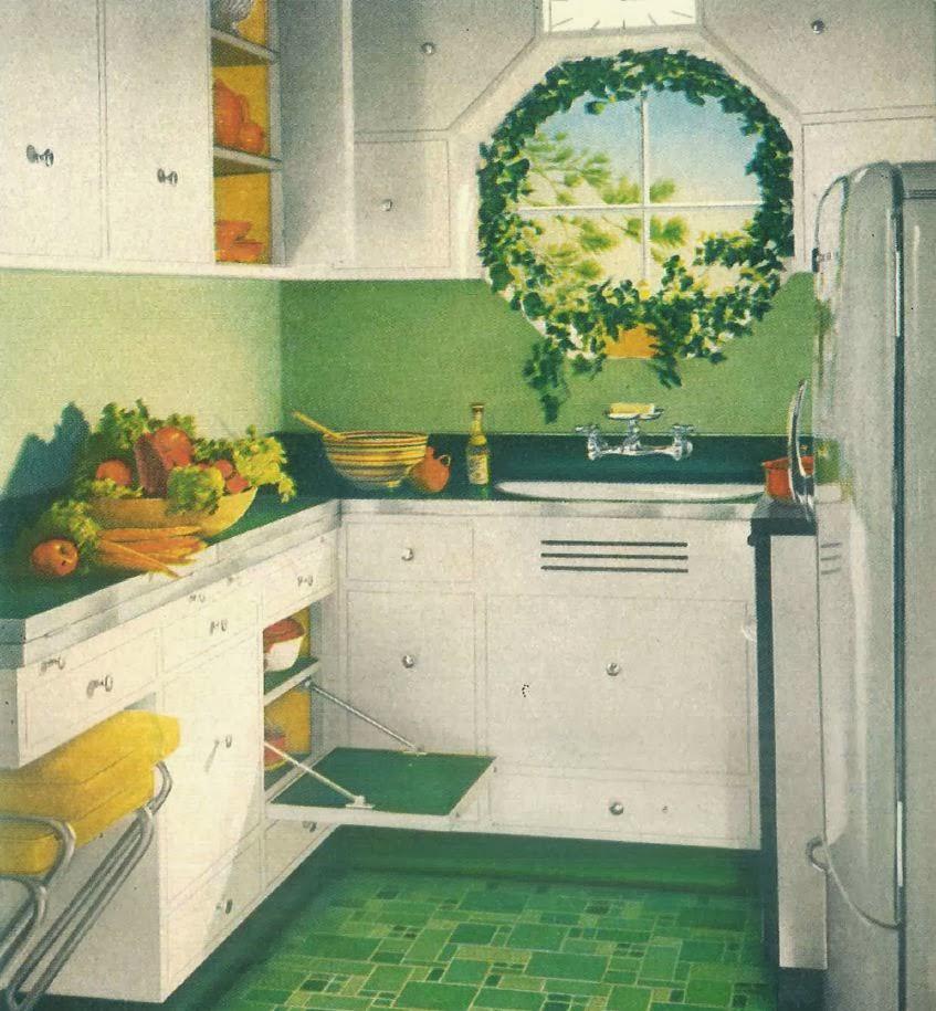 Retro Linoleum Kitchen Flooring: Sublime Mercies: My New Retro Kitchen: Formica And Chrome