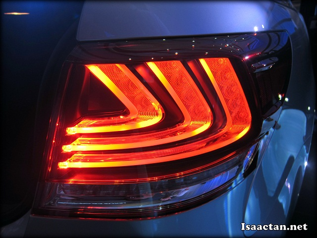 The new rear combination lamp design
