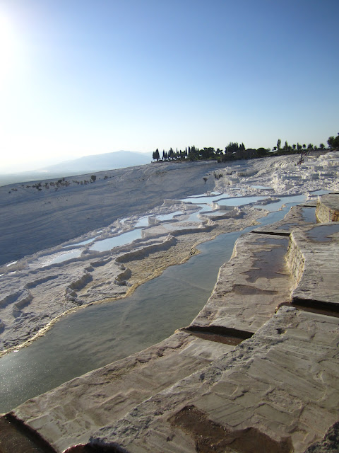 The travertines, Pamukkale, Turkey.