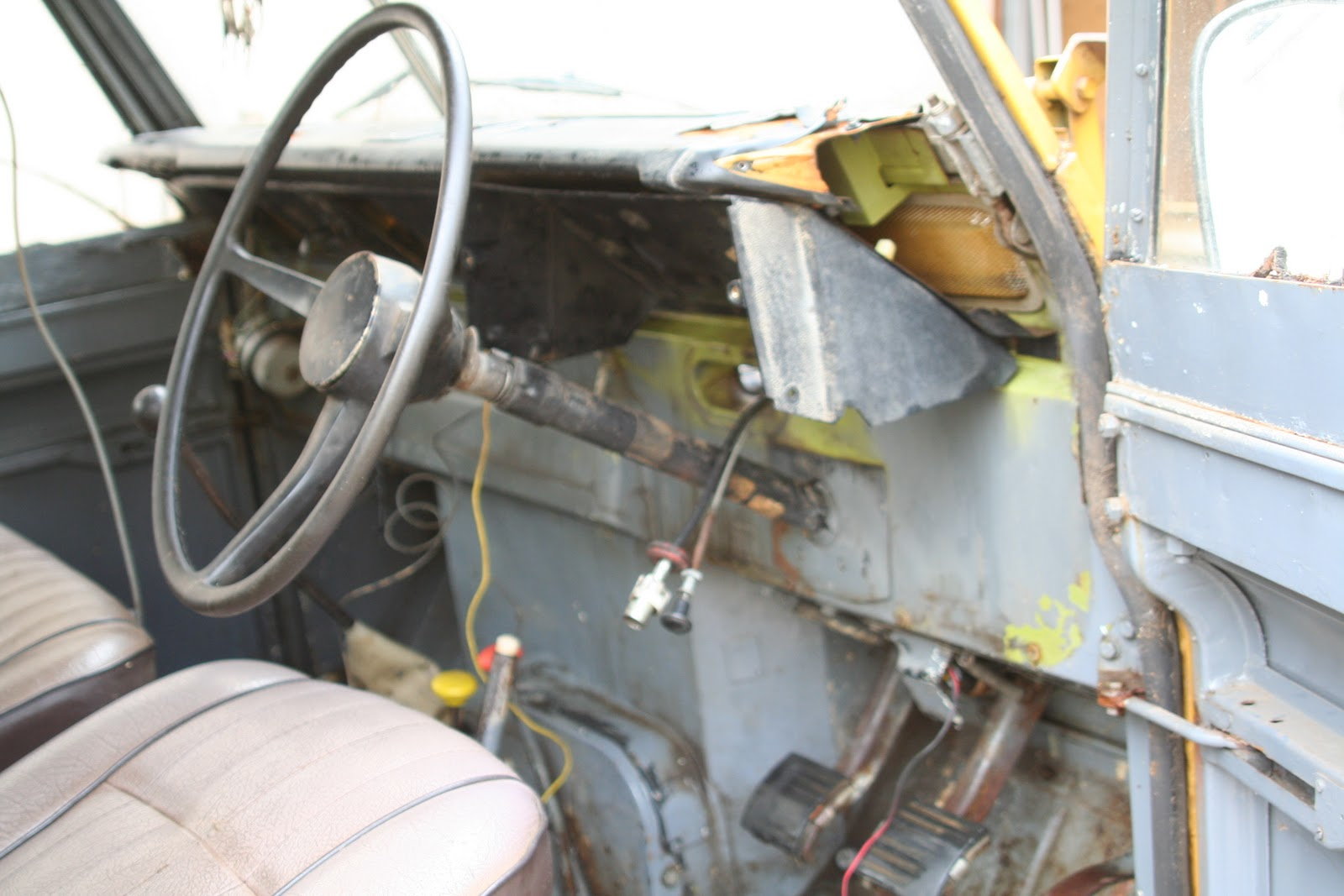 Rebuilding A Legendary Land Rover Series 3 Iii Wiring The Dash Completely Removed And Lying On Floor Next To Vehicle