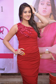 Harshika Pooncha latest Pictures in red 005.jpg