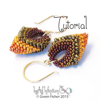 Beaded Cellini Spiral Earrings Peyote Stitch