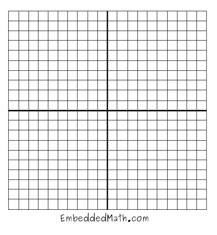 Graph Paper Template 20 By 20 Graph paper for coordinates