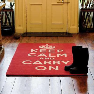 """Cómo decorar con el mensaje: """"Keep calm and carry on"""""""