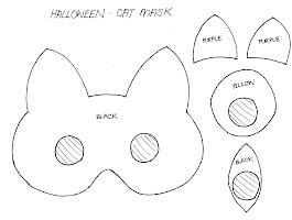 Printable Halloween Black Cat Template