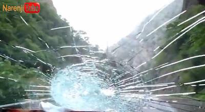 شکستن شیشه ماشین