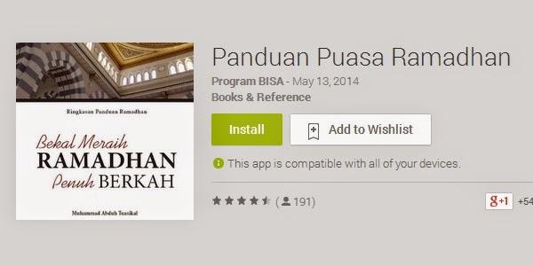 Aplikasi Panduan Puasa Ramadhan