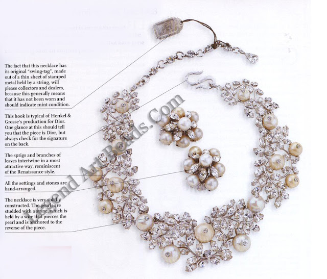 Dior Necklace & Earrings Set