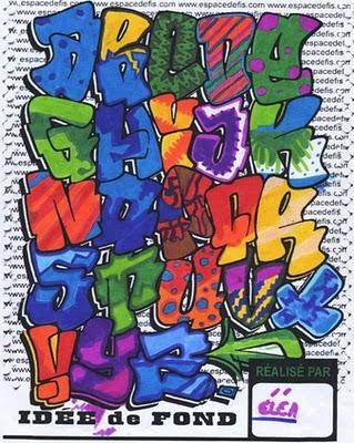 Colorful Bubble Graffiti Alphabet