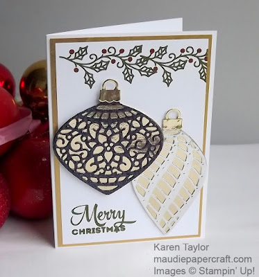 Stampin' Up! Delicate Ornaments card