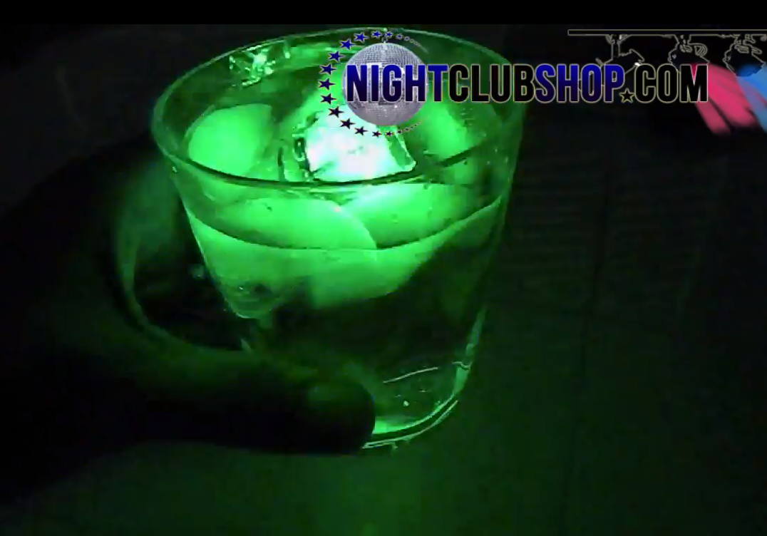 led ice cube liquid activated on off rgb led lighted ice cube