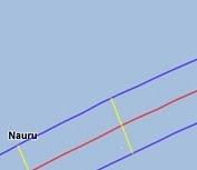 Path of eclipse visibility over Kiribati.
