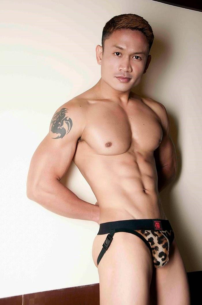 Asian boys wearing thongs