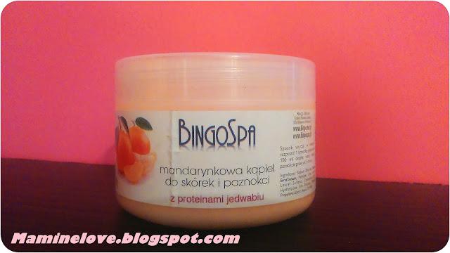 Mandarynkowa kąpiel do skórek i paznokci z proteinami jedwabiu BINGOSPA