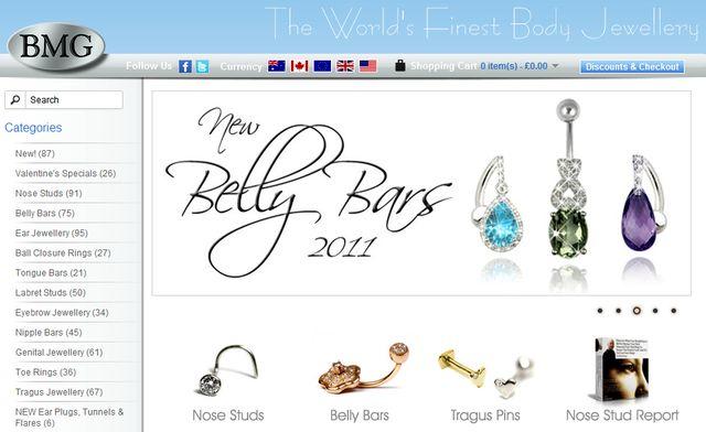 Unique Body Jewellery at BodyMattersGold.com