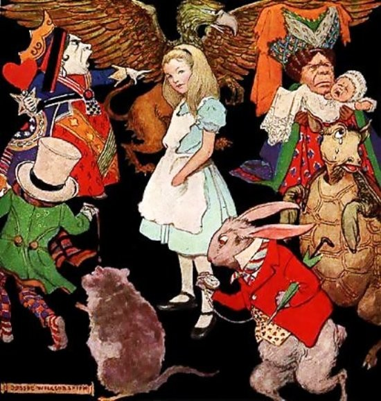 Gambar kartun Alice in Wonderland - 2