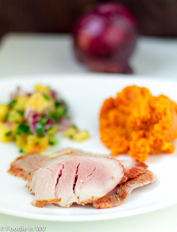 Smoky Pork Tenderloin with Pineapple Mango Salsa