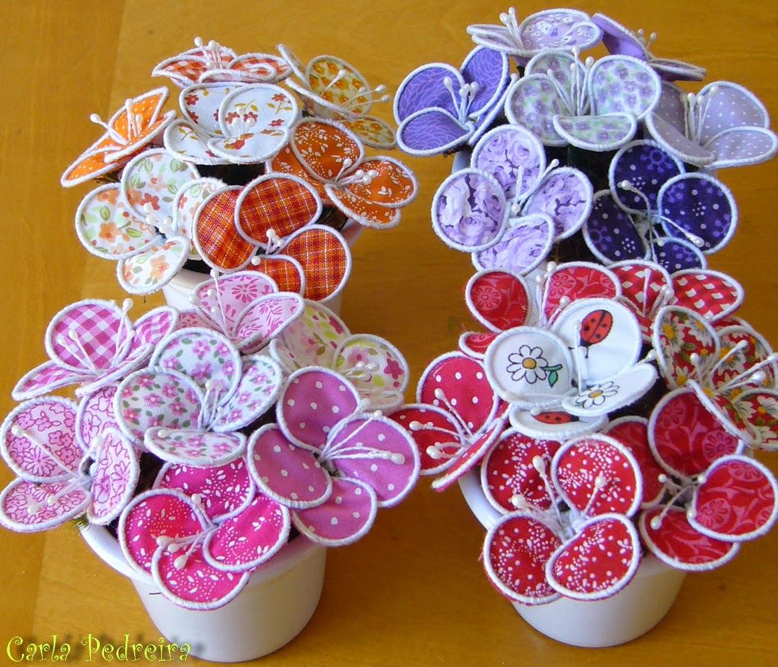 Artesanato Com Feltro Passo A Passo ~ Eu Amo Artesanato Vaso de flores de tecido com arame
