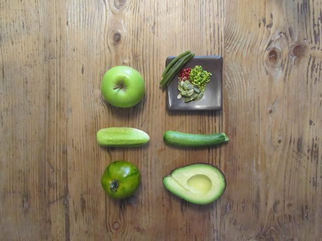 cetriolo mela avocado