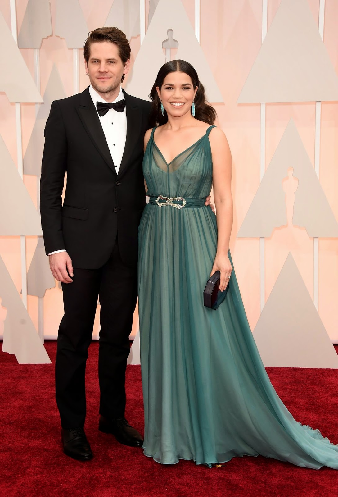 America Ferrera in a gorgeous chiffon dress at the 2015 Oscars in Hollywood