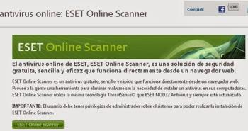 Protege y analiza tu computadora con Eset Online Scanner gratis