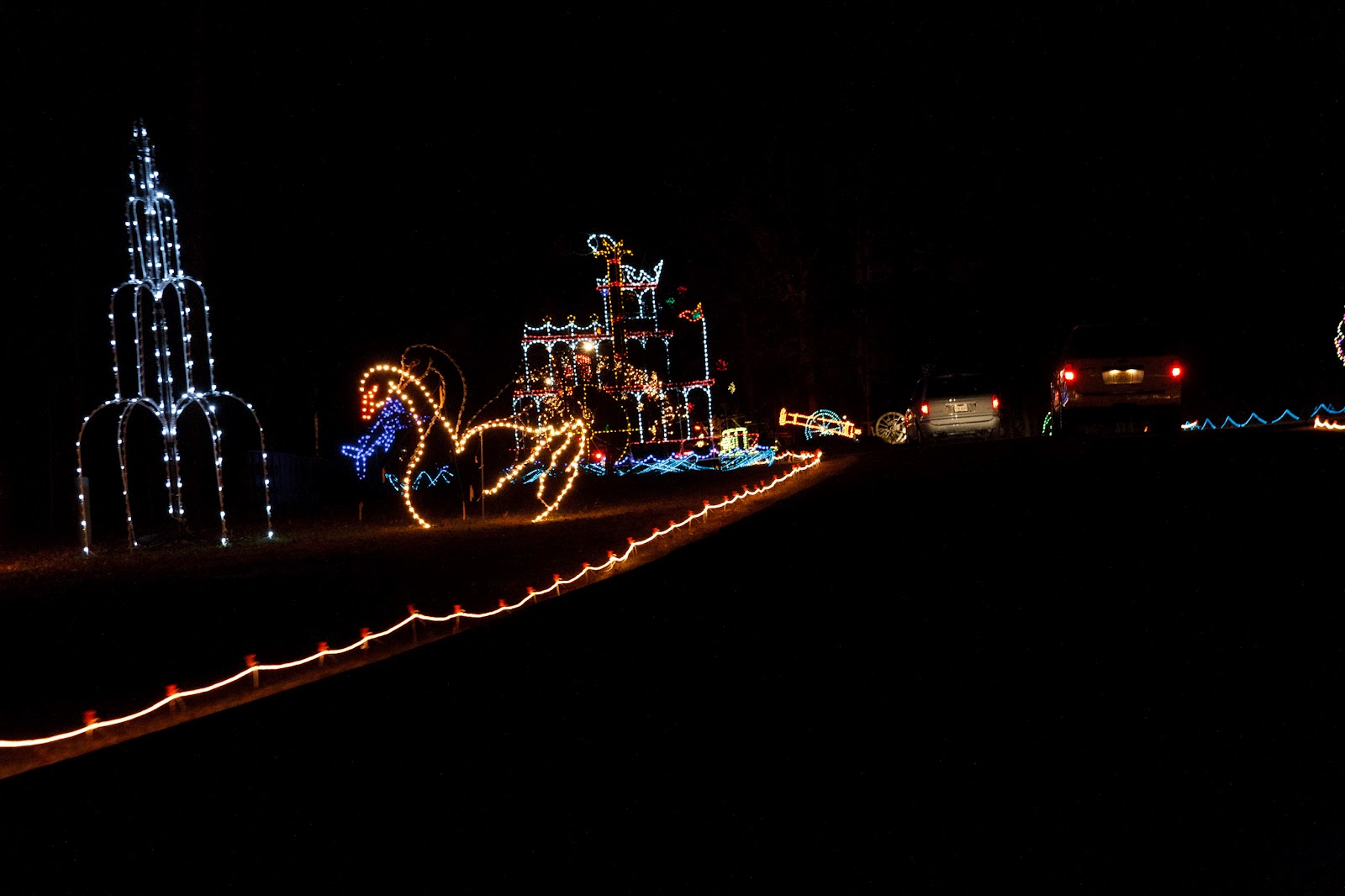 we went to see christmas lights at newport news park
