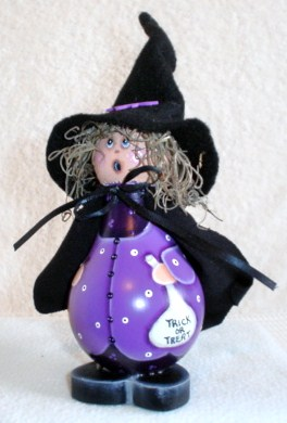 Halloween Witch Halloween Crafts Purple Witch Painted Light Bulb