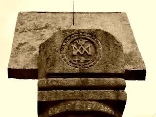 Único relógio de sol remanescente entre as quinze reduções jesuítas argentinas. La Cruz, Argentina.