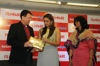 Bollywood Actress Huma Qureshi Latest Pictures in Long Dress at Filmfare 2015 Calendar Launch  45.JPG