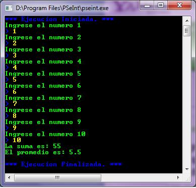 Diagramas de flujo y algoritmos se pide que se ingrese los numeros para i 1 hasta cant con paso 10 hacer escribir ingrese el numero i leer numero suma suma numero finpara ccuart Gallery