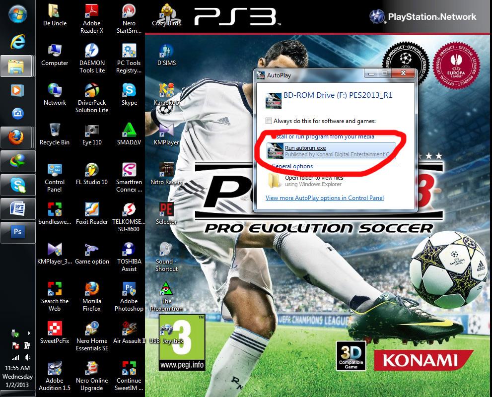 Uncle Dodi: Cara Install Games PES 2013